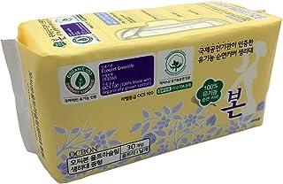 Korean Bon Organic Cotton Sanitary Pads with Wings Regular (Regular)