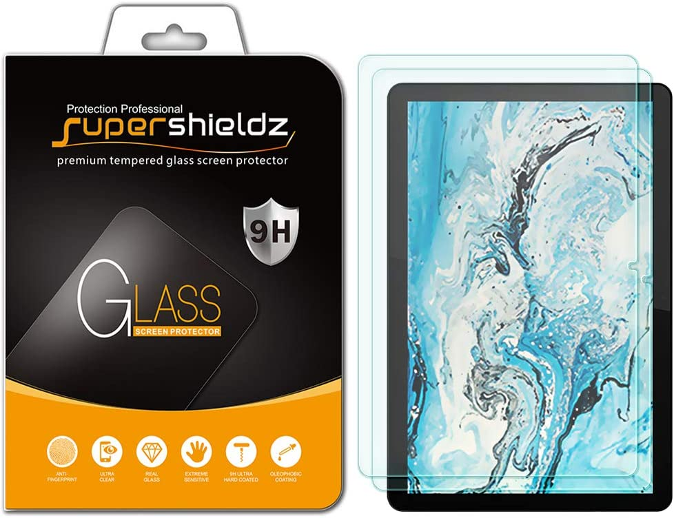 (2 Pack) Supershieldz Designed for Lenovo Chromebook Duet 10.1 inch Screen Protector, (Tempered Glass) Anti Scratch, Bubble Free