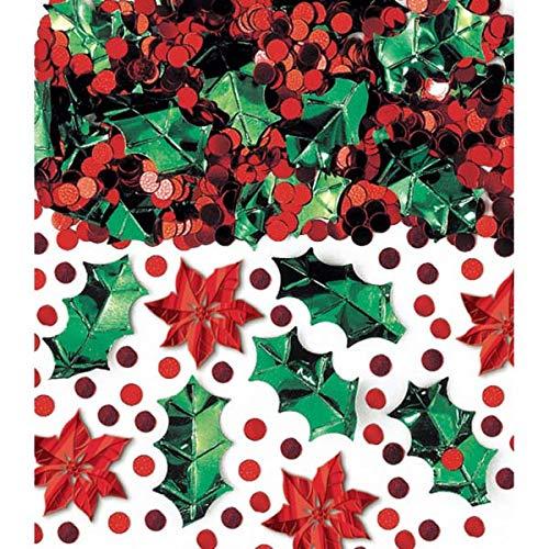 amscan International Confettis 70 g Mix, Rouge/Vert