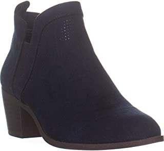 Style & Co. SC35 Myrrah Pull On Ankle Booties, Navy Micro