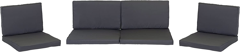 Beo Loungekissen Ersatz für Monaco Set Gruppen Austauschkissen wasserabweisend Set mit 8 Kissen, 5 cm dick, anthrazit schwarz