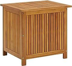 vidaXL Solid Acacia Wood Garden Storage Box Durable Wooden Outdoor Patio Hallway Blanket Pillow Entryway Hall Bench Furnit...