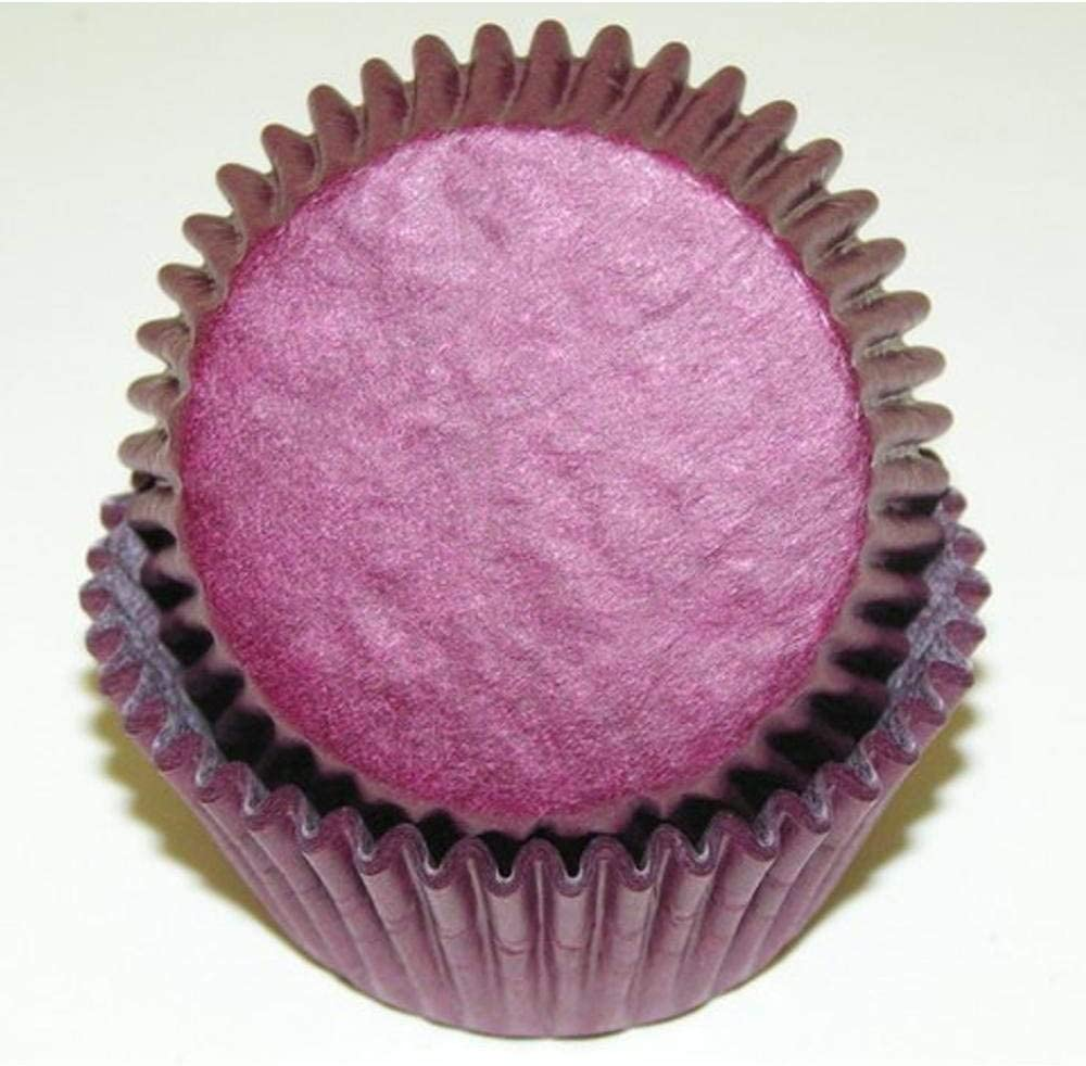 50pc Solid Cheap super special price Burgundy Color Standard Baking Nashville-Davidson Mall Cupcake Cups Size Line