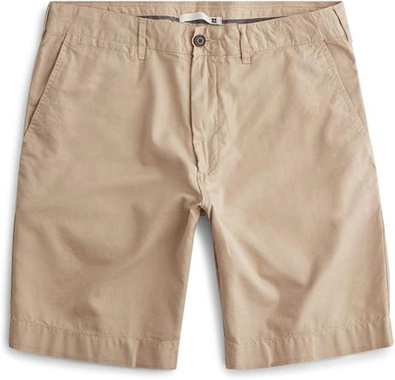 Faherty Womens Flat Front Khaki Shorts Khaki 33, 40