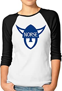 GUC Women's 3/4 Sleeve T-Shirts - Luther College Norse Black