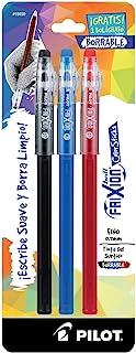 Pilot Bolígrafos borrables Frixion Color Sticks, colores surtidos, blister con 2 piezas más una de regalo (3 piezas), punt...
