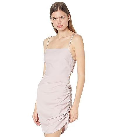 WAYF Bardot Smocked Back Side Drape Mini Dress