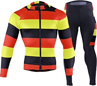 German Flag Germany Men's Cycling Jersey Set Breathable Quick-Dry MTB Road Bike Luxury