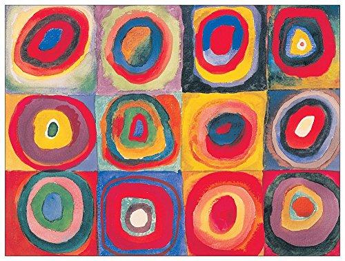 ArtPlaza Studio del colore-(Kandinsky) Decoratief Paneel, Hout, Meerkleurig, 80 x 1,8 x 60 cm