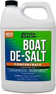 Better Boat De-Salt Concentrate Salt Remover Flusher for Motors Marine Watercraft Engines Flush Winterize Cleaner (1 Gallon)