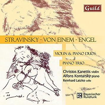 """Stravinsky: Divertimento """"Le baiser de la Fée"""" - Engel: Sonogramm I, Fünftes Klaviertrio """"Calliopes descent from Olympus"""" - von Einem: Sonate, Op. 11"""