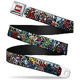 Buckle-Down Seatbelt Belt - Marvel Universe Heroes & Villains Portrait - 1.5' Wide - 24-38 Inches in Length