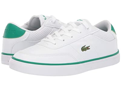 Lacoste Kids Court-Master 119 4 CUC (Little Kid) (White/Green) Kid