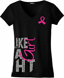 Side Wrap Ladies V-Neck T-Shirt