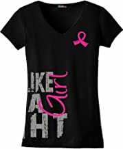 Fight Like a Girl Side Wrap Ladies V-Neck T-Shirt