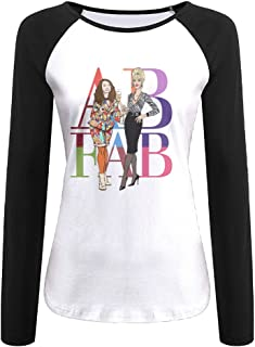 Creamfly Womens AB Absolutely Fabulous Long Sleeve Raglan Baseball Tshirt