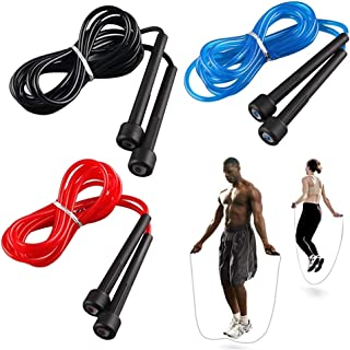 QZ High Quality Rope Skipping High Speed Aerobic PVC Skipping Rope Length Adjustable Skip Jump Rope Fitness Equipment (Col...