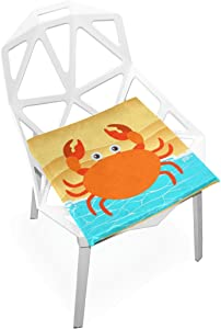 PLAO Chair Pads Crab Pattern Soft Seat Cushions Nonslip Chair Mats for Dining, Patio, Camping, Kitchen Chairs, Home Decor