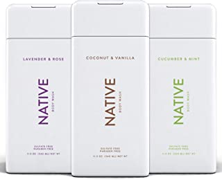 Sponsored Ad - Native Body Wash 3 Pack - Natural Body Wash Women & Men - SLS & Paraben Free - Naturally Derived Ingredient...