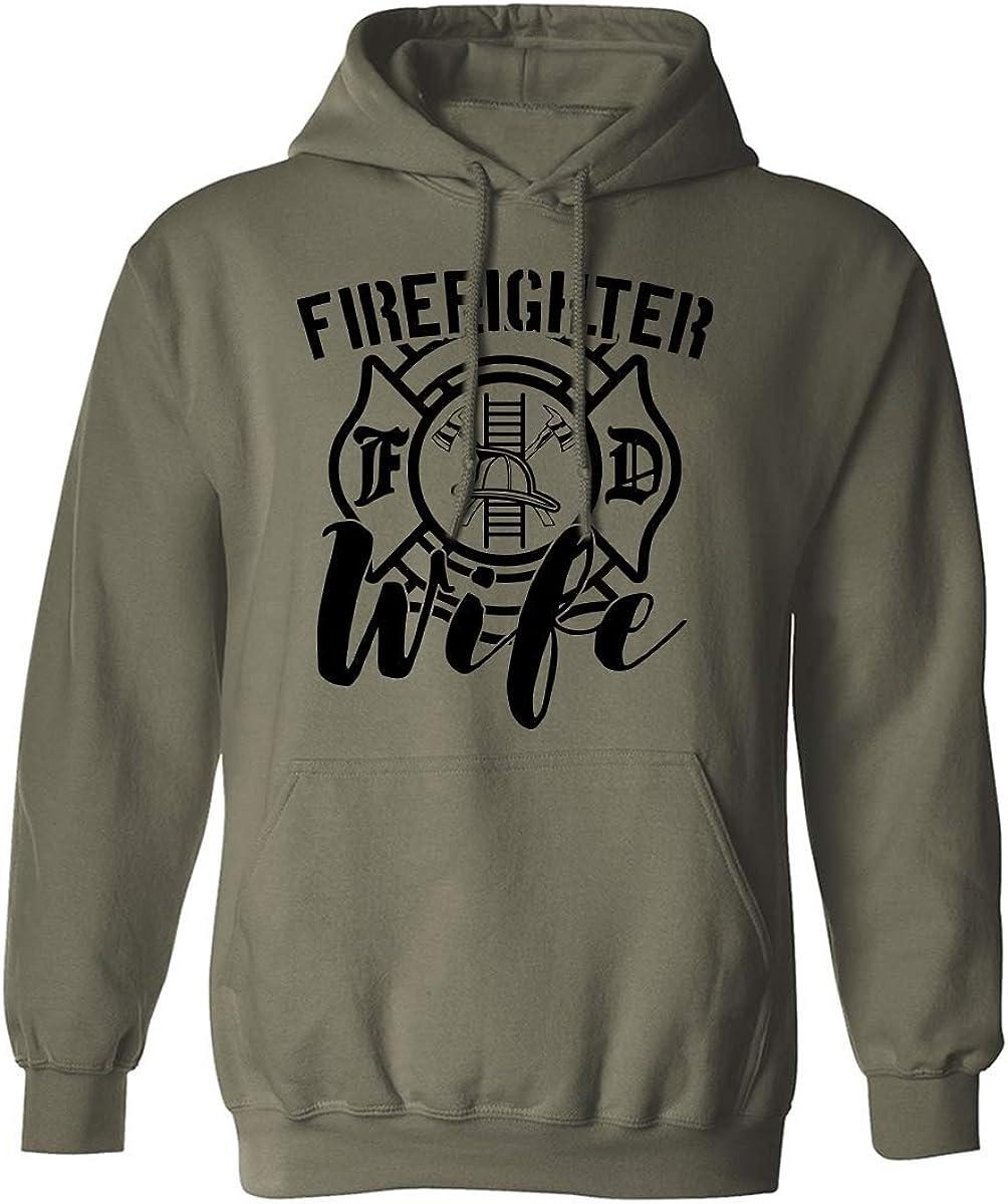 FIREFIGHTER WIFE Adult Hooded Sweatshirt