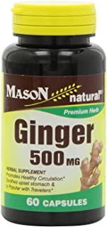 Mason Natural Ginger 500 Mg, 60 Capsules