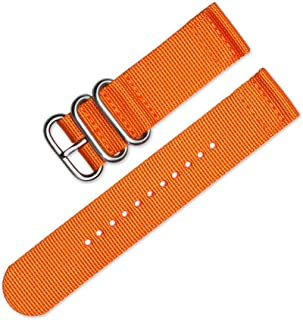 Ballistic Nylon Zulu Style 2 Piece Watch Band Strap, Military NATO with Premium Buckle, Colors, Camo Pattern (Sizes: 18mm,...