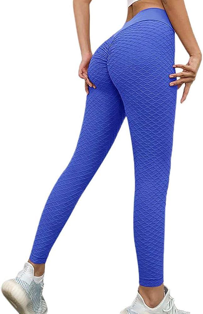nawaish Vita Alta Increspato Culo Sollevamento Pantaloni Yoga Allenamento Leggings Controllo Pancia Calzamaglia