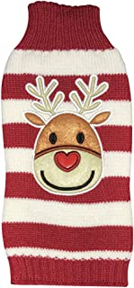 NACOCO Holiday Xmas Reindeer Sweaters Dog Sweaters New Year Christmas Sweater Pet Clothes for Small Dog and Cat