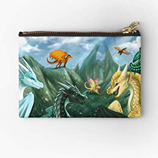 To Welcome Fire Mountain Pouch Of Wings Zipper Zipper Accessories Pencil Cosmetic Makeup Office Supplies and Travel Pouch