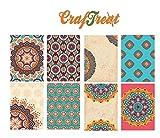 CrafTreat Mandala 1 & 2 Decoupage Paper Pack for DIY Home Decor mixed Media, Decorative Printed Decoupage...
