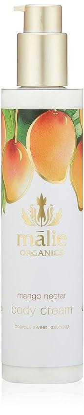 つかむ粘着性インドMalie Organics(マリエオーガニクス) ボディクリーム マンゴーネクター 222ml