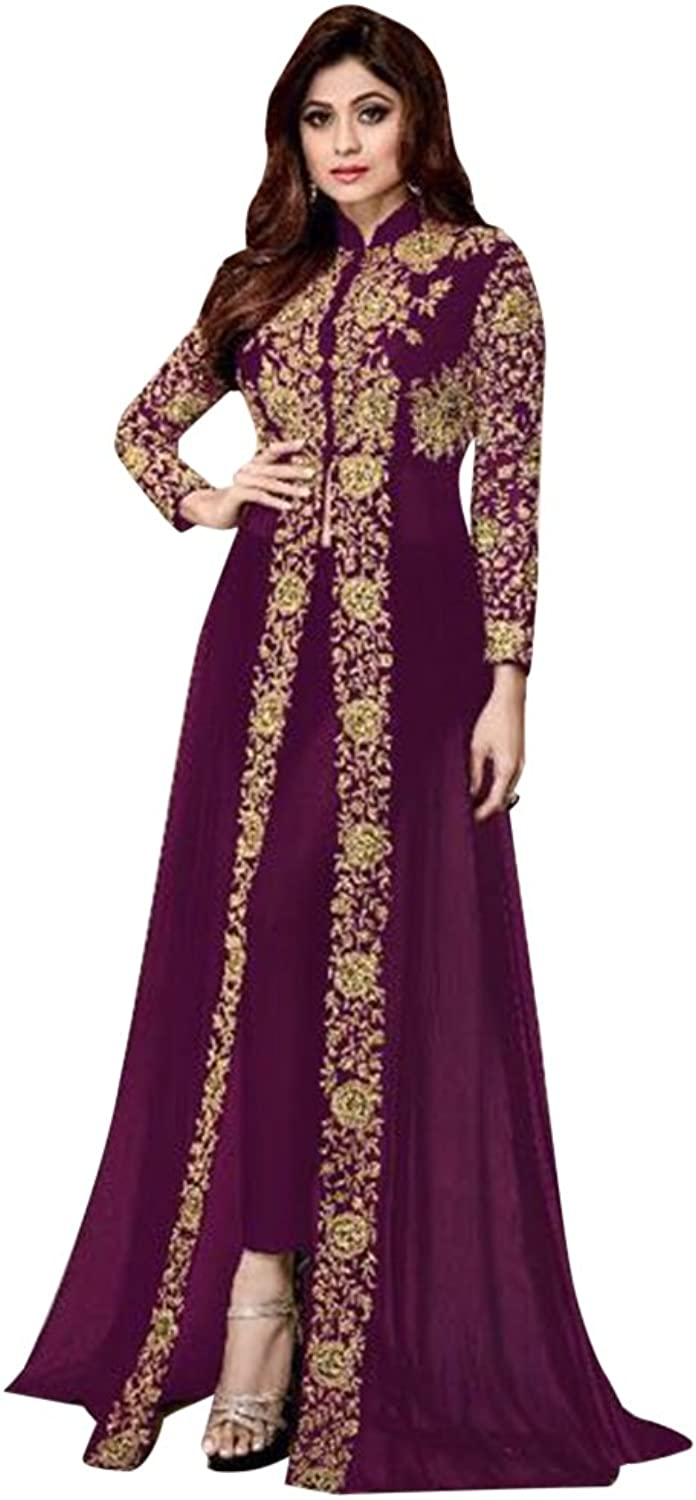 Bollywood Collection Anarkali Salwar Kameez Suit Ceremony Bridal Muslin Ethnic 651 d