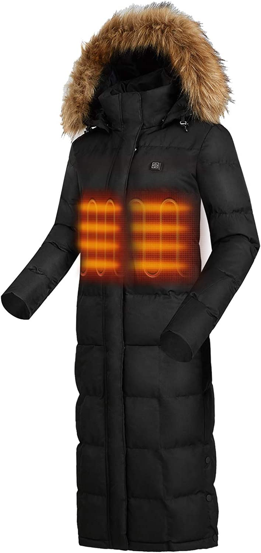 2021 IHAYNER Women Finally resale start Lightweight Heated Jacket Winter Waterproof Long H