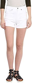 HYPERNATION White Color Cotton Shorts for Women