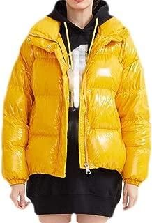 Macondoo Women's Down Shiny Puffer Winter Long-Sleeve Parka Jackets Coat