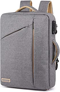 Arder Backpack Men's Multi-Function Travel Bag Anti-Theft Lock Business Computer Bag Casual Bag Relaxed (Color : Gray)