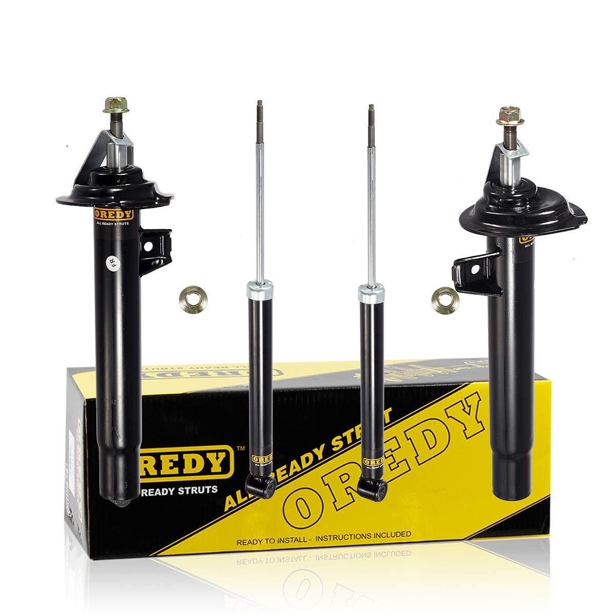 OREDY Full Set 4Pcs Complete Shocks Struts Coil Spring Assembly Kit Compatible with Honda Accord 2008 2009 2010 2011 2012#172563 15180 SR4174 SR1473