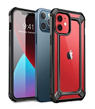 SUPCASE Unicorn Beetle EXO Series Case Cover for iPhone 12 / iPhone 12 Pro (2020 Release) 6.1 Inch, Hybrid Protective Clear Bumper Case Cover (Black)