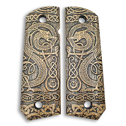1911 Full Size Bobtail Wood Grips - Celtic Gates