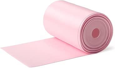 RUSPEPA 75mm Cinta del Satén De Doble Cara Ancha - 4.5 Metro (123 Blush Rosa)