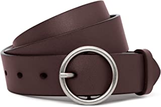 Designed Women Leather Belt 1.3in Wide Jeans Belts for Women Dresses with Christmas Gift Box