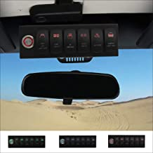 Apollointech Jeep Wrangler JK & JKU 2007-2018 Overhead 6-Switch Pod/Panel in Red Backlight with Control and Relay Box (Comes with 12 Laser Switch Covers)