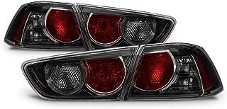 ACANII - For [Black Smoked] 2008-2017 Mitsubishi Lancer 08-15 EVO X Tail Lights Brake Lamps