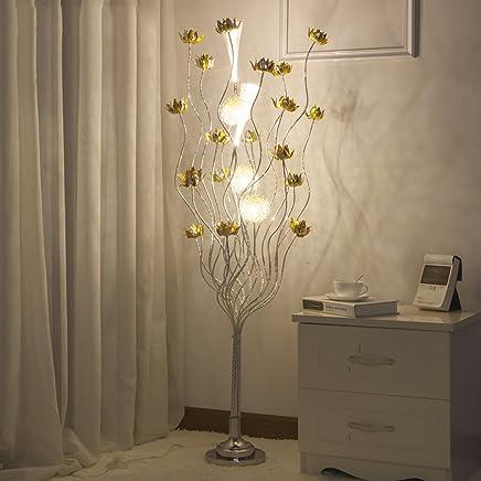 LILY クリエイティブ花びら織りボールフロアランプ、現代ミニマルリビングルームベッドルームデンフロアランプ (Color : B)