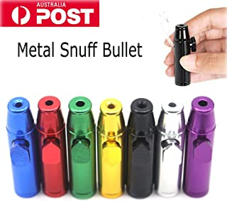 EMO TREE 2018 Snuff Metal Bullet Rocket Dispenser Snorter Snuffer Inhaler Tube Vial