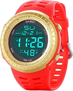Men's Digital Sports Watch LED Screen Large Face Military Watches for Men Waterproof Casual Luminous Stopwatch Alarm Simple Army Watch