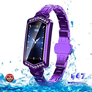Smart Watch,  Fitness Tracker with Heart Rate and Blood Pressure Monitor for Android and IOS Phones,  Waterproof Activity Tracker with Calorie Counter,  Smart Watch for Women and Girl(Purpel)