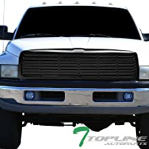 Topline Autopart Black Horizontal Front Hood Bumper Grill Grille ABS For 94-01 Dodge Ram 1500/94-02 2500/3500