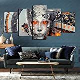 Shop Atmosphere Crying to Escape Torture PC Video Game Art 5 Joint Painting 3D HD Printing Canvas 100x50cm Frameless