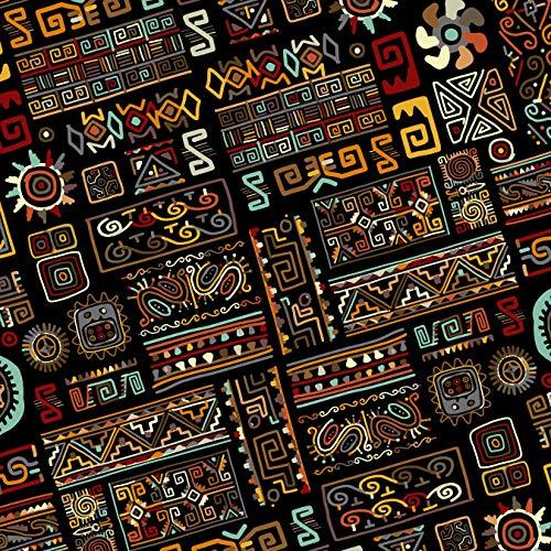RIO NEGRO Geschenkpapier Retro Schwarz (10+3 Bogen extra) AKTION JETZT 30% MEHR, Bogen 50 x 70 cm Vintage Geburtstag afrikanisch ägyptisch